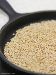 Toasted Sesame Seeds for Vegan Kimchi Fried Rice