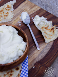 Lebanese Garlic Sauce - and Flat Bread