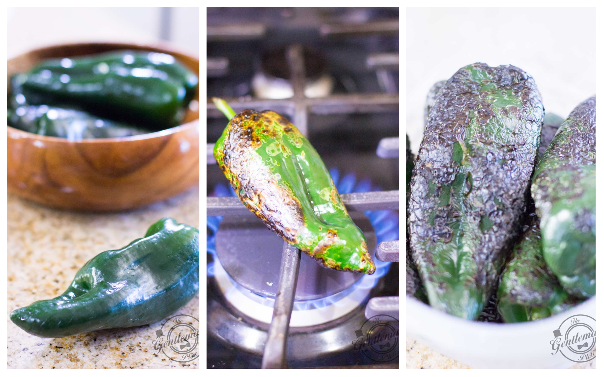 Vegan Chile Rellenos Poblano Peppers